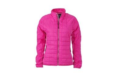 James & Nicholson Damen Hybrid Jacke, pink/silver