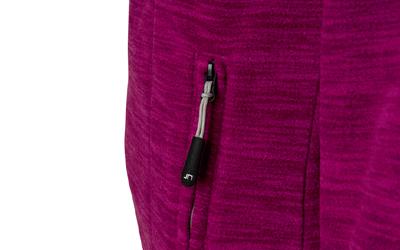 Taillierte Microfleece Jacke in modischer Melangeoptik