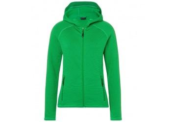 James & Nicholson Damen Stretchfleece Jacke, fern-green/carbon