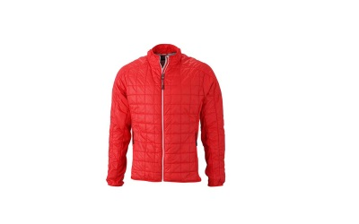 James & Nicholson Herren Hybrid Jacke, light-red/silver