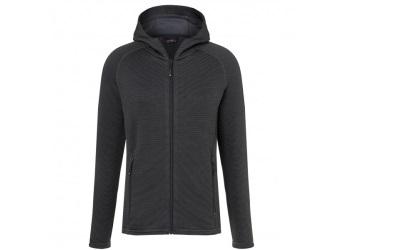 James & Nicholson Herren Stretchfleece Jacke, black/carbon