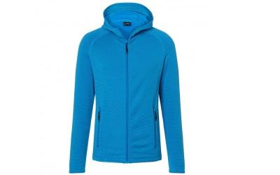 James & Nicholson Herren Stretchfleece Jacke, bright-blue/navy