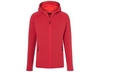 James & Nicholson Herren Stretchfleece Jacke, red/carbon