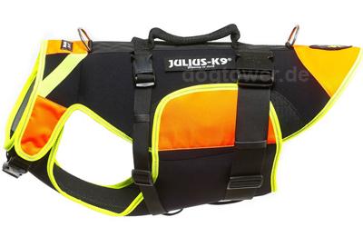 Julius K9 IDC multifunktionale Hundeweste 3 in 1, neon