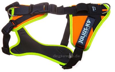 Julius K9 Mantrailing Outdoor Hundegeschirr, gelb/orange