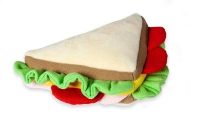 Hundespielzeug Plüsch Sandwich