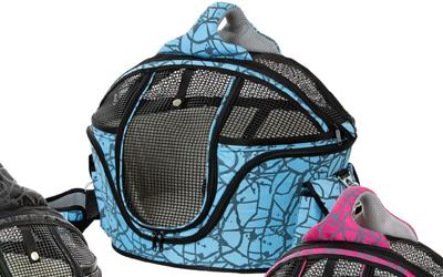 Karlie Shopper de Luxe Liegekorb und Hundetragetasche, blau