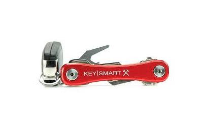KEYSMART Rugged Schlüsselhalter (Aluminium), rot