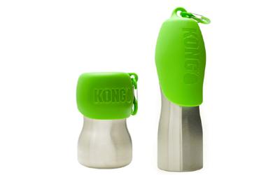 Kong Hundetrinkflasche aus rostfreiem Edelstahl, grün
