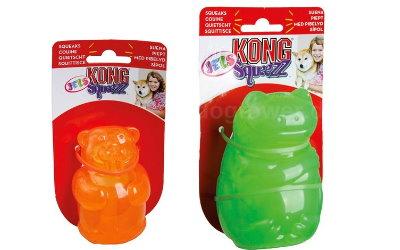Kong Jels Squeezz in zwei unterschiedlichen Größen erhältlich