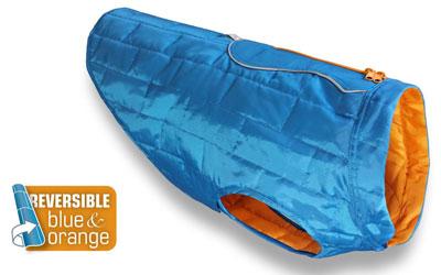 Kurgo Loft Dog Coat Wintermantel, blau/orange