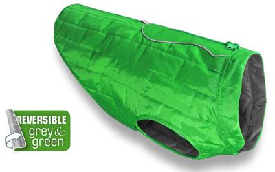 Kurgo Loft Dog Coat Wintermantel, grün/dunkelgrau