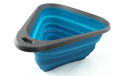Kurgo Mash-N Stash Collapsible Dog Bowl, blau