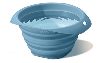 Silkon- Napf, blau