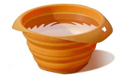 Silkon- Napf, orange