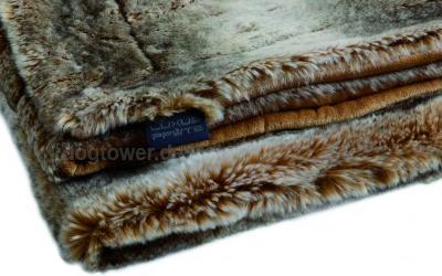 Luxusdecke für Hunde in grau/braun