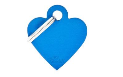 myfamily Adressanhänger Herz Basic blau