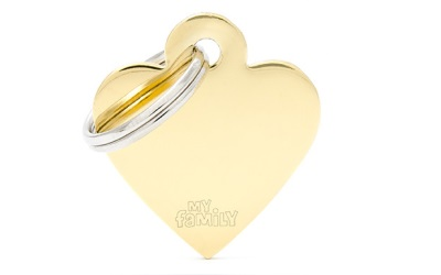 myfamily Adressanhänger Herz Basic gold
