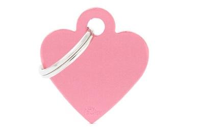 myfamily Adressanhänger Herz Basic pink
