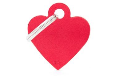 myfamily Adressanhänger Herz Basic rot