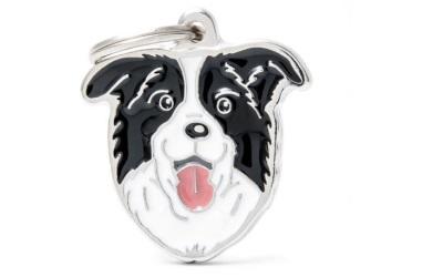 myfamily Adressanhänger Hundemotiv Border Collie