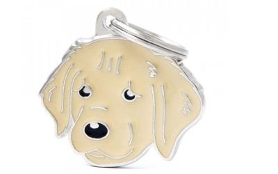 myfamily Adressanhänger Hundemotiv Golden Retriever