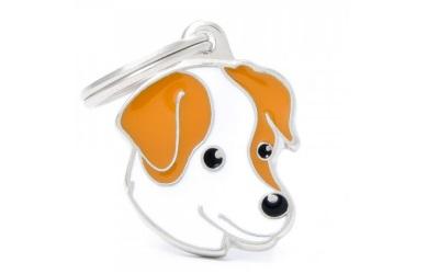 myfamily Adressanhänger Hundemotiv Jack Russel
