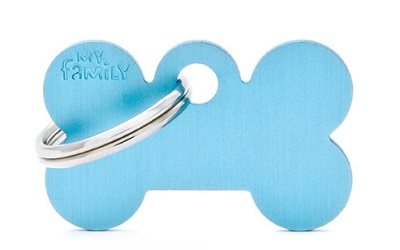 myfamily Adressanhänger Knochen Basic hellblau