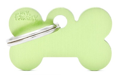 myfamily Adressanhänger Knochen Basic hellgrün