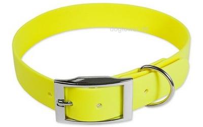 Mystique Halsband Biothane Deluxe, neon-gelb