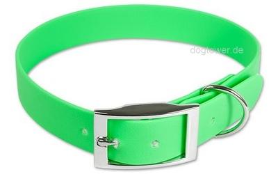 Mystique Halsband Biothane Deluxe, neon-grün