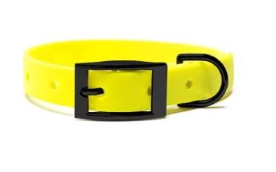 Mystique® Biothane Halsband deluxe neon gelb schwarz
