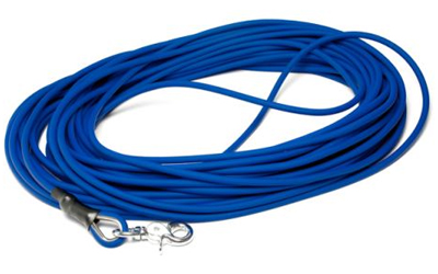 Mystique Biothane Schleppleine rund Scherenkarabiner, beta blau
