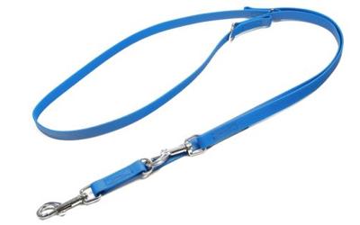 Mystique Biothane verstellbare Leine Führleine (Standard Karabiner, VERNÄHT), hellblau