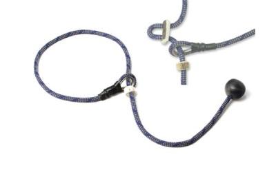 Mystique® Field Trial Kurzführer mit Zugbegrenzung, blau/beige