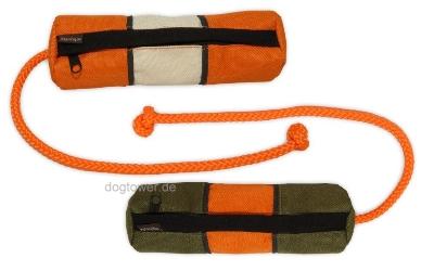 Futterdummy, khaki/orange u. orange/beige