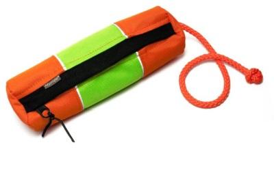 Mystique Futterdummy Snack reflektierend, orange/neon grün