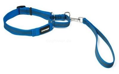 Mystique Agility Leine gummiert, blau