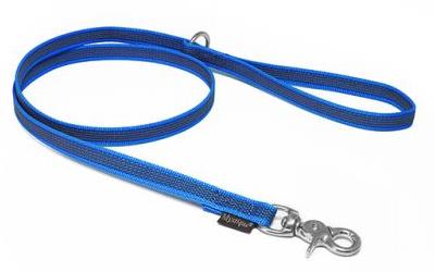 Mystique gummierte Leine (ROSTFREI Scherenkarabiner), blau
