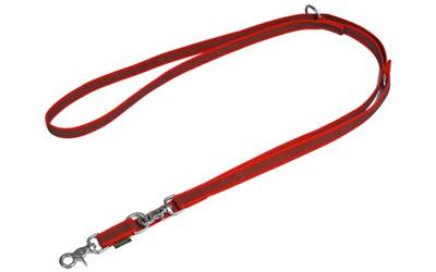Mystique gummierte Umhängeleine (ROSTFREI Scherenkarabiner), rot