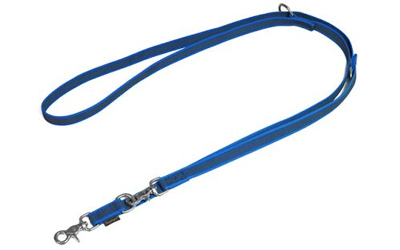Mystique gummierte Umhängeleine (ROSTFREI Scherenkarabiner), blau