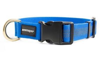 Mystique gummiertes Halsband (MESSING), blau
