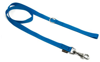 Mystique Nylon Leine (ROBUSTER Karabiner), blau