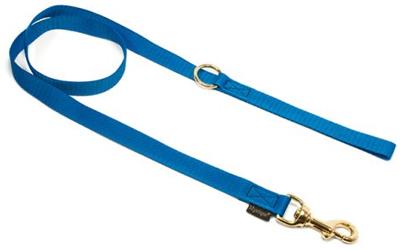 Mystique Nylon Leine (MESSING Karabiner), blau