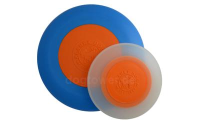 Zweifarbige Hundefrisbee in blau/orange