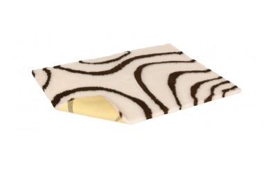 Original Vetbed Premium Hundedecke, cream with brown swirls