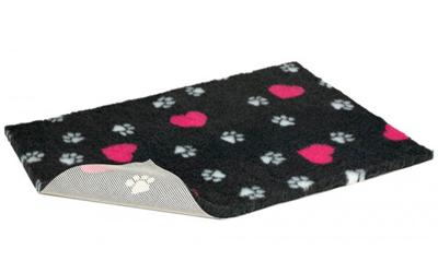 Original Vetbed Premium Hundedecke, dunkelgrau mit Applikationen