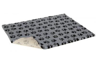 Original Vetbed Premium Hundedecke, grau mit Pfoten