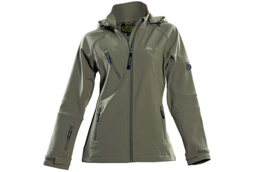 Owney Softshell-Jacke Damen Matu Hood, new khaki