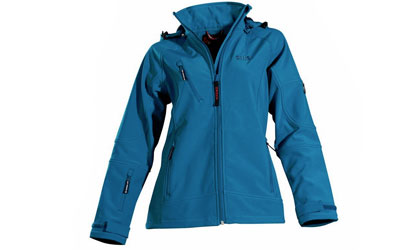 Owney Softshell-Jacke Damen Matu Hood, petrol
